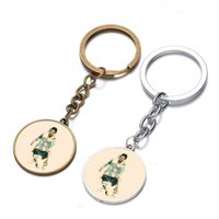 argentina gifts - Key Rings Argentina small flea Messi star time gem key buckle European Cup fans of promotional gifts