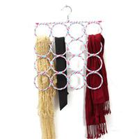 Wholesale 16 Holes Slots Belt Tie Hook Organizer Holder Fashion Rattan Weave Shawl Scarf Neat Hangers cm x cm