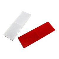 Wholesale Automobile Eflector Plastic Goods Van Reflective Sticker Van Vehicle Reflective Material Warning Stickers Red white Car Styling