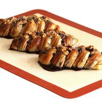 Wholesale 100pcs Food Grade Non stick Silicone Fiberglass Baking Mat For Cake Cookie Macaron Non Stick Baking Liner Mat