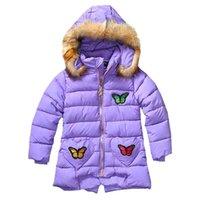 venda por atacado roupa coreana-2016 coreano Criança Raparigas Outono-Inverno Quente Brasão roupas de algodão acolchoado para Beautiful Girls presentes Hallow Crianças Princesa Outwear MC0166