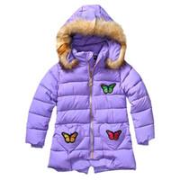 beautiful gifts cotton - 2016 Korean Child Girls Winter Autumn Warm Coat Cotton Padded Clothes for Girls Beautiful Hallow Gifts Kids Princess Outwear MC0166