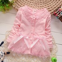 Wholesale Hitz European and American style solid color cotton floral ladies fashion cute girls cardigan jacket