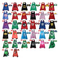 batman cape - 70 CM Double Side Kids Superhero Capes with Masks Batman Spiderman Ninja Turtles Captain America for Kids Halloween Birthday Party