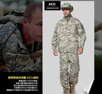 Wholesale color Camouflage suit sets Army Military uniform Combat Suit with Pants