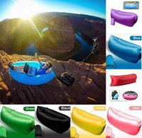 Wholesale Custom Logo Inflatable Outdoor Air Sleep Sofa Couch Portable Furniture Sleeping Hangout Lounger External Internal PVC for Summer Camping