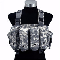 ak vest - Military Camouflage Tank Tops Tactical Vest Airsoft Ammo Chest Rig AK Magazine Carrier Combat