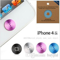 Wholesale New Fashion Aluminum Home Button Sticker Paste Key Press Keypads Stick for iphone s iPad new iPad RJ1157 dd