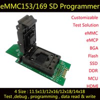 Wholesale eMMC test adapter with SD Interface HDMI Interface bonding pads Clamshell for BGA153 _13mm BGA169 socket for data recovery
