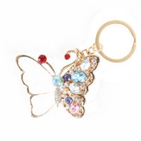 bags accesories - Elegant Dance White Butterfly Pendant Charm Chain Accesories Crystal Set Shell Purse Bag Key Chain Creative Good Gift