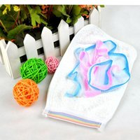 bathroom essentials - New Hot Bathroom Essential Household Items Towel Multifunctional Thick Gloves Bath Flower Bath Home Cleaning Products
