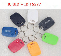 Wholesale Copy Rewritable Writable EM ID IC keyfobs RFID Tag Key Ring Card125KHZ MHZ Proximity Token Access Control Duplicate