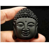 animal meanings - Hot Sale Natural Crystal Stone Obsidian Buddha Head Pendant Mean Male Fashion pendant price