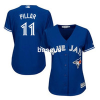Wholesale 2016 cheap MLB Hot sale womens Toronto Blue Jays Kevin Pillar jersey stitched Authentic ladies baseball jersey for sale size S XL