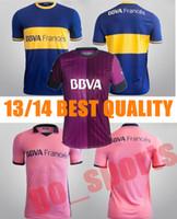 Wholesale Clearance Prices Boca Home Away Soccer Jersey Blue Pink Soccer Jerseys Fottball Jerseys Jersey
