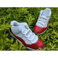 air jordans 11 - Air Jordan Retro Low White Varsity Red Black Cherry varsity red foams air jordans low flu game s men basketball shoes
