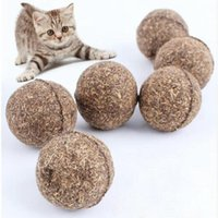 Wholesale 2016 new Nature Cat Mint Ball Play Toys Ball Coated with Catnip Bell Toy for Pet Kitten