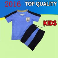 Wholesale new Copa America Centenario Uruguay kids youth boys Soccer jerseys Uniforms kit L SUAREZ E CAVANI D GODIN Football Shirts set