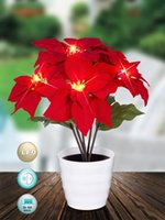 aa plastics - Led light AA batteries operated christmas flower for home garden party xmas decoration festival gift