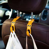 Wholesale 2pcs Multi Use Universal Car Back Seat Headrest Hanger Holder Hook for Bag Purse Cloth Grocery Storage Auto Fastener Clip
