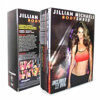 Wholesale Jillian Michaels BODYSHRED Workout DVDs Rotational Calendar Meal Plan Fitness Guide DVD Moives TV Series