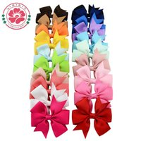 Wholesale Fashion Baby Girls Bow Barrettes accessories kids Big Bowknot Hairpin inch children hair ornaments bobby pin with hair clips