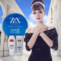 Wholesale Original authentic Z X sunscreen sunscreen after sun repair calm the skin sunscreen kit face arms legs can wipe Sun protection index DHL