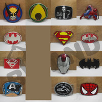 Wholesale 2016 Super Heroes superhero captain America batman Big Belt Buckle Buckles High Quality