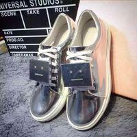 ai yellow - Studios Acne white shoes all leather Ai Keni casual shoes Tourism