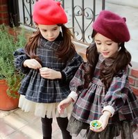 western clothing - New Sweet Kids Girls Plaid Cotton Ruffles Jackets Outwears Western Vintage Princess Fall Winter Clothing