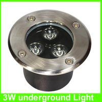 Wholesale LED Underground Light floor lamp IP67 Waterproof W V LED Outdoor Ground Garden Path Floor Yard Lamp Landscape Light white rgb