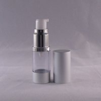 airless travel bottles - New Arrival ml Empty Airless Pump Plastic Bottles Vacuum Pressure Emulsion Bottle With Lotion Pump On The Travelling Cosmetic Packaging