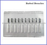 Wholesale Dental Material Packs Dental Endodontic Files Root Canal Short Barbed Broaches Black mm mm mm