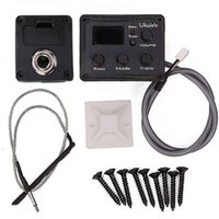 Wholesale A set of Ukulele Bands Chromatic EQ Tuner Recorder Sound Sensor Amplifier Instrument with Cord Cable Link Wire