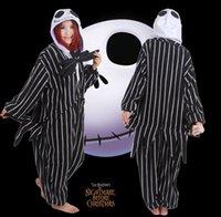 Wholesale Hot Nightmare Before Christmas JACK Kigurumi Pajamas Costume cosplay Adult Onesie Sleepwear Size S M L XL