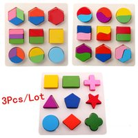 Wholesale Baby Toys Geometric Blocks Educational Wooden Toys Blocks Multifunction Baby Early Learning Child Gift