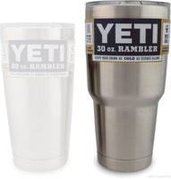 Wholesale DHL Original Hot Bilayer Stainless Steel Insulation Cup OZ OZ YETI Cups Cars Beer Mug