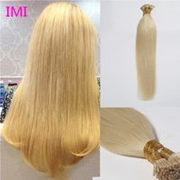 Wholesale 8A Brazilian Hair I Tip Extensions g g pack Human hair Pre Bonded Extensions for fashion women