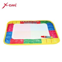 Wholesale XC8866 X19cm color Mini Water Drawing Mat Aquadoodle Mat Magic Pen Water Drawing board baby play mat