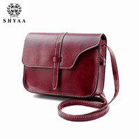 authentic handbags wholesale - SHYAA Women Bag Women Messenger Bag Ladies Handbag Small Authentic Retro Mini Small Shoulder Bag drop shipping