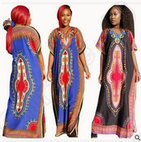 Wholesale African Dashiki Dresses Women African Clothes Dress Succunct African Tranditional Printed Dashiki Dresses Ethnic Clothing CCA4709