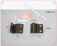antique copper hinges - Furniture small hinges for jewelry box three folding page antique hinge copper plating crafts small hinge MMX18MMX0 MM