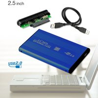 Wholesale USB HDD HARD DRIVE DISK BLUE ENCLOSURE EXTERNAL INCH SATA HDD CASE BOX EL5021