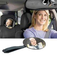 Black car rear mirror for baby monitor  Hot selling family driving safety Baby Facing Rear Ward Car Safety Easy View Back Seat Mirror Child Infant Care