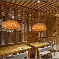 bamboo light fitting - Bamboo Pendant Light Fashion Art Deco Pendant Light Project Brand Design Living Room Hotel Light Fitting