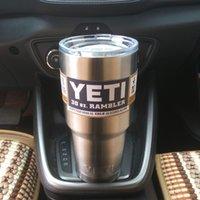 stainless steel spoon - YETI oz Cup Cooler YETI Rambler Tumbler For Travel Vehicle Beer YETI Mug Tumblerful Bilayer Vacuum Insulated Stainless Steel