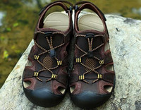 Las sandalias de los hombres de la marca de fábrica de ZIMNIE nuevo calzan los zapatos de las sandalias de los hombres de las sandalias de los hombres Sandalias de cuero verdaderas de los deslizadores de la playa Tamaño grande