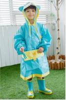 Wholesale KOCOTREE Kids children Raincoat Rainwear Rainsuit Waterproof kid Animal Raincoat poncho Funny Rain Coat
