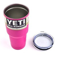beer mug sports - Pink YETI Tumbler Rambler Cups Yeti Coolers Cup Yeti Sports Beer Cup oz Mugs Large Capacity Stainless Steel Travel Mugs