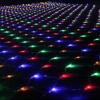 2 * 3M Belle Éclairage décoratif 204 LED de lumières de Noël Net Lumière Arbre Party Halloween Mariage Décoration extérieure